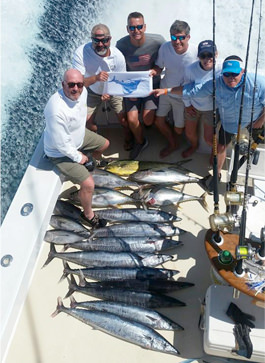 A typical day of fishing with Pelagic Sportfishing fishing charters in Atlantic Beach.
